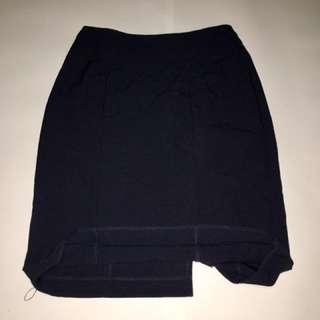 Navy Blue Work Skirt