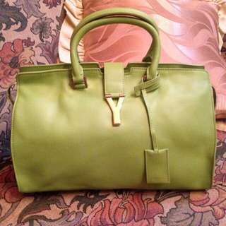 Authentic Ysl Green Bag