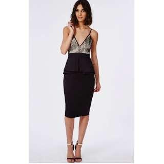 Scuba Lace Peplum Midi Dress #SunriseTV
