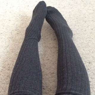 NEW! Dark Grey Over The Knee Socks