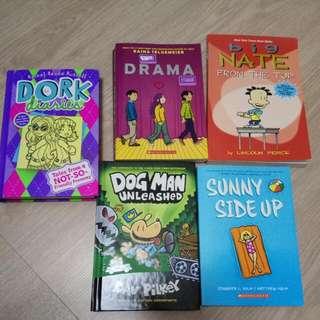 Dork, Big Nate, Dogman,  Drama,  Sunny Side Up