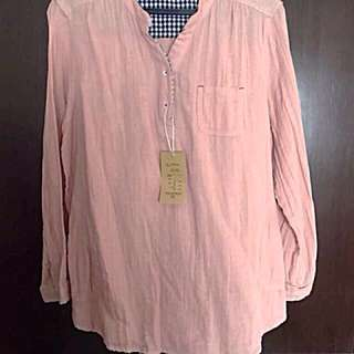 Peach Cotton Top With Lining (XL)