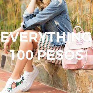ALL TOPS & DRESSES FOR 100 PESOS ONLY!