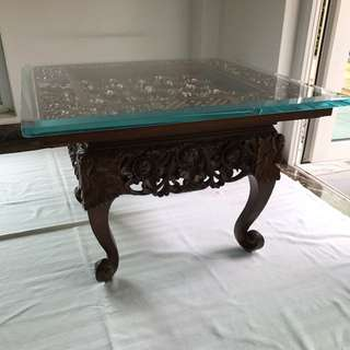 Wood Carving Coffee Table