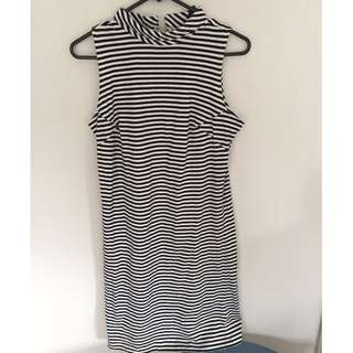 pop england striped dress (size s)