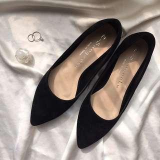 (免運)黑色尖頭鞋