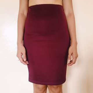 Purple Fitted Skirt