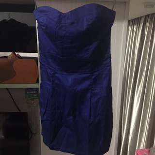 Blue Strapless Dress