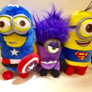 Minion Soft Toys In Superhero Costume Cosplay Despite Me Plush Toy Doll