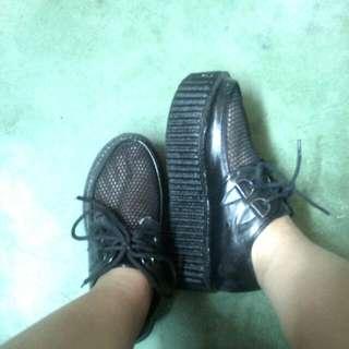 Repriced For 250php Korean Black Shoes