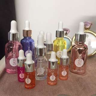 Skin Inc Glass Bottles