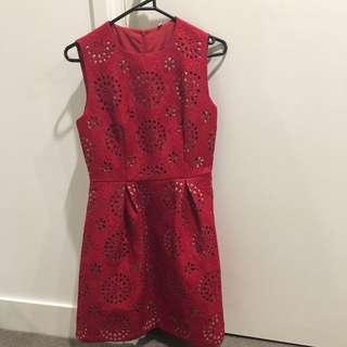 Red Sack Dress