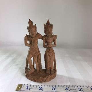Sandalwood Wood Carving Of Rama Shita