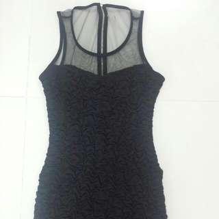Forever21 Black Mesh Dress