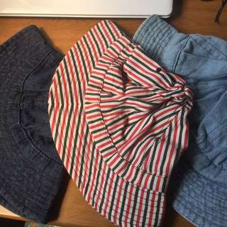 漁夫帽 (深淺牛仔、條紋)