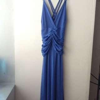 Sexy Blue Strappy Dress