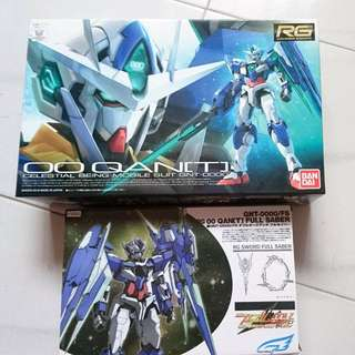 RG 1/144 00 QanT + Effect Wings Full Saber