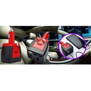 [萬能汽車電源轉換器] 汽車電源12V 轉換電源 220V 輸出及USB接口,AC交流輸出插座,具有超載、過壓、低壓、過溫、短路的安全保護功能,操作方便,安全可靠