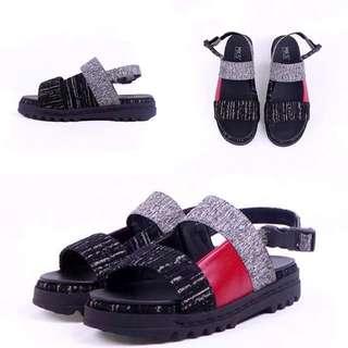 MKS BLACK RED SANDALS