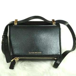 Givenchy Pandora Box Mini Textured Leather Shoulder Bag