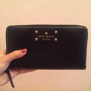 Kate Spade Neda Groove Street Black Wallet
