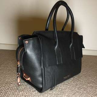 Calvin Klein Cara City Satchel Leather Women Bag