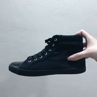 ✨Preloved Topshop Authentic Black High Top Sneakers