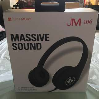 Just-Must JM106 Stereo Ultra Bass Headphones