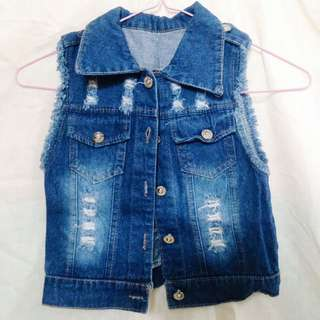 REPRICED! Ripped Denim Cardigan