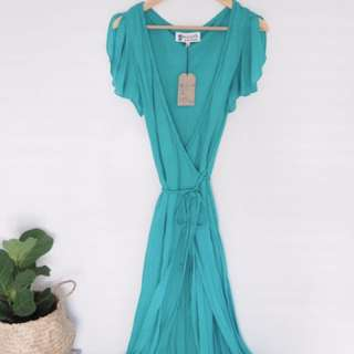 South of the border maxi wrap dress