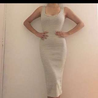 Bershka Striped Knitted Bodycon Dress