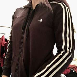 Black Adidas Zip Up Jumper
