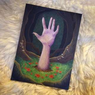 Hand Painted Acrylic Painting - Enchanted Forest And Hand