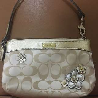Coach Limited Edition Floral Wristlet