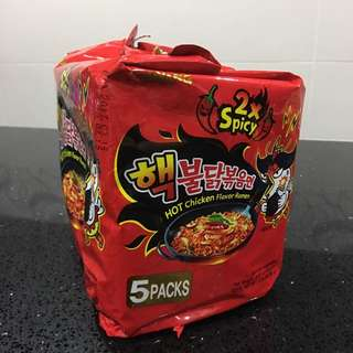 NUCLEAR samyang korean spicy noodle x2