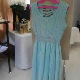 Light Blue Sheer Dress