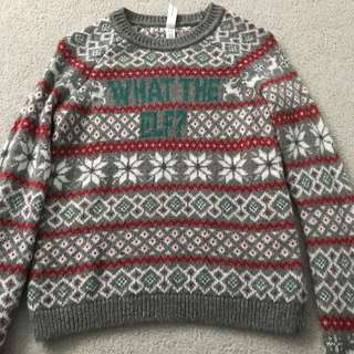 'what the elf?' christmas sweater