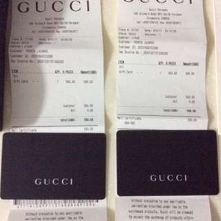 Gucci Gift Card $1,000 Value