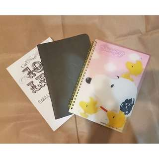 3x small notebooks