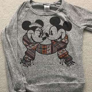 light grey knit disney sweater
