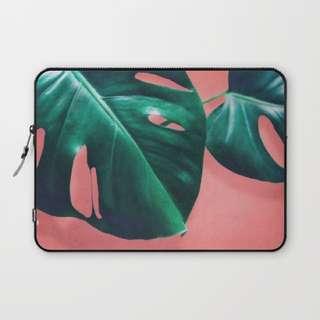 monstera society 6 laptop case 🌿