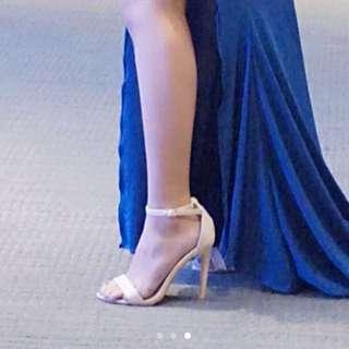 Nude Ankle Strap Heels / Stilettos