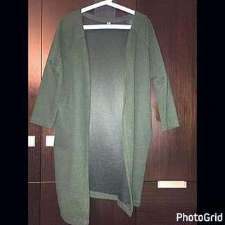 墨綠色春秋外套