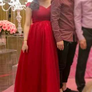 Looking For Red Maxi Dinner Dress 👗