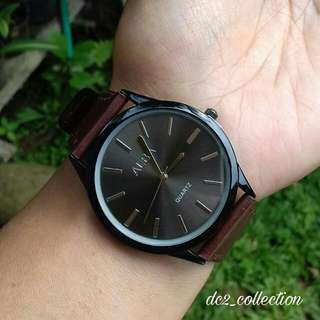 jam tangan alba coklat