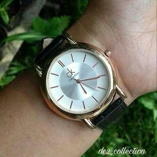 jam tangan ck hitam