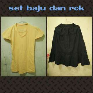 Pre💛 Set Baju & Rok