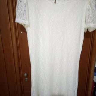Dress Brokat Broken White