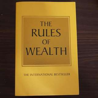 THE RULES OF WEALTH by Richard Templar (RETAIL $24.56)