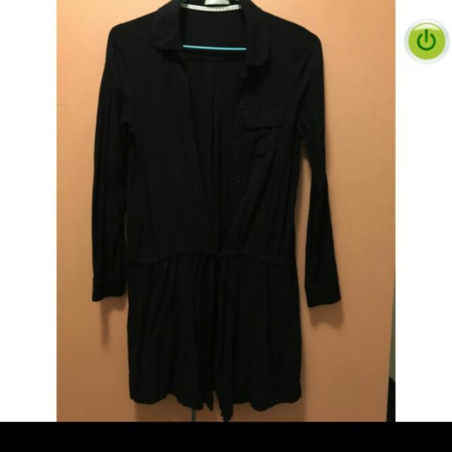黑色襯衫洋裝